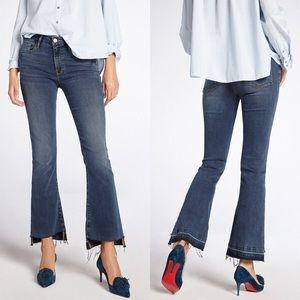 Frame Le Crop Mini Boot Cut Frayed Step Hem Jeans